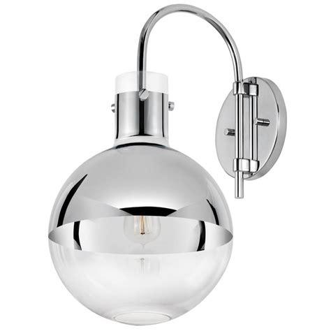 mercury glass globe sconce