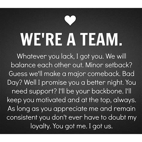 are we a team yes we are one man s opinion