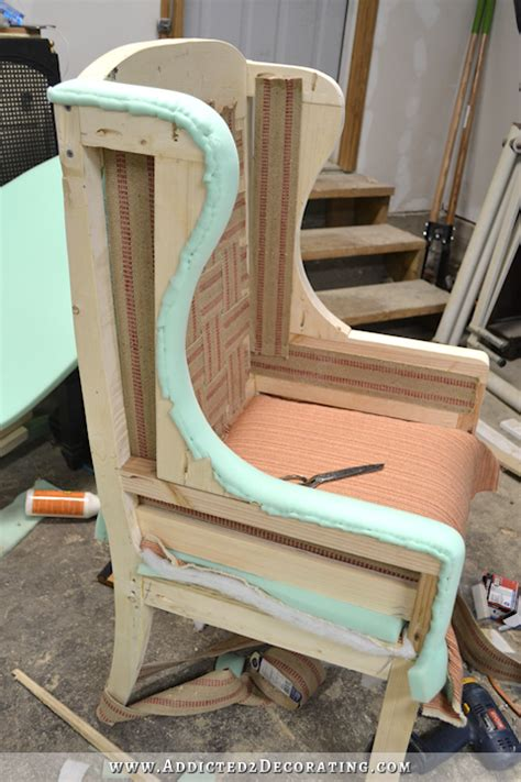 diy wingback dining chair   upholster  frame