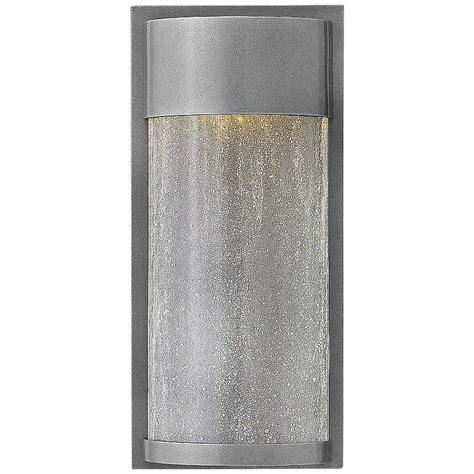 hinkley shelter 12 quot high led hematite outdoor wall light
