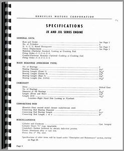 Hercules Engines Jxd Engine Service Manual