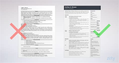 healthcare professional resume samples writing tips