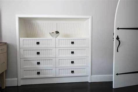 CUSTOM   Built In White Dresser