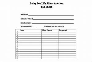 12 silent auction bid sheet templates free word excel With bid sheets for silent auction template