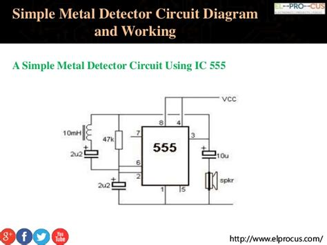 Simple Metal Detector Circuit Diagram Working
