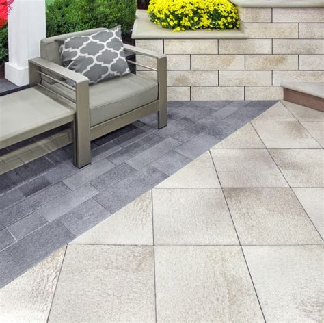 unilock chicago patio with belmuro wall with umbriano pavers photos