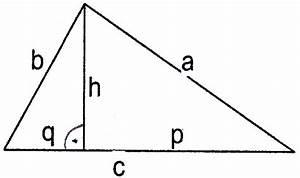 Trigonometrie Seiten Berechnen : dreieck fehlende seiten und fl che eines dreiecks berechnen a c h q a mathelounge ~ Themetempest.com Abrechnung