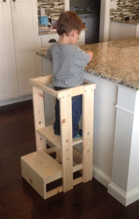 kitchen helper stool child kitchen helper step stool by teddygramstottowers on etsy