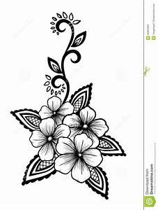 Beautiful Floral Element. Black