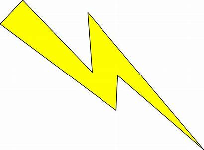 Lightning Yellow Clipart Thunderbolt Outline Transparent Blitz