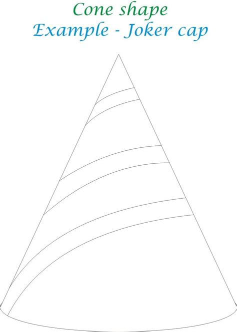 conical shape printable coloring page  kids