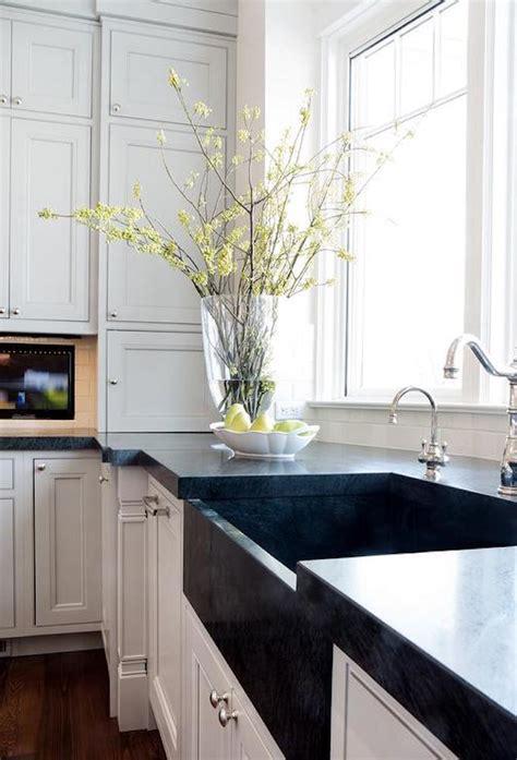 white kitchen black sink white apron sink alternativesbecki owens 1327