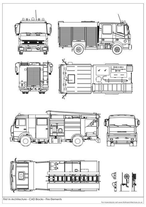 Free CAD Blocks - Fire Elements and Symbols | AutoCAD | Salas