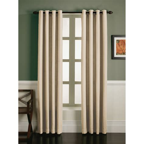 essential home faux linen grommet panel wheat home