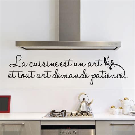 sticker la cuisine est un stickers citations fran 231 ais ambiance sticker