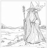 Coloring Colouring Pages Hobbit Tolkien Adults Gandalf Books Lord Rings Geeky Pattern Adult Tolkiens Whsmith Printable Colour Earth Pencils Sheets sketch template