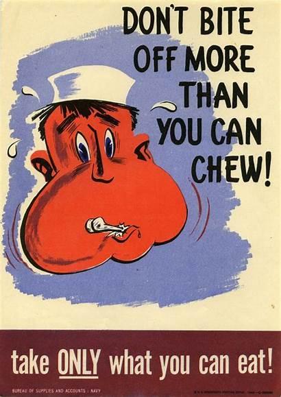 Posters Take Waste Eat Chew Bite Than