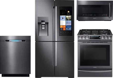 Samsung 4piece Kitchen Package With Nx58k9500wg Gas Range