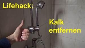 Hartnäckigen Kalk Entfernen : lifehack kalk entfernen im badezimmer in der dusche badewanne duschkopf entkalken youtube ~ One.caynefoto.club Haus und Dekorationen