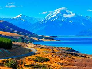 Lake Pukaki New Zealand Desktop Wallpaper Hd   Wallpapers13 Com