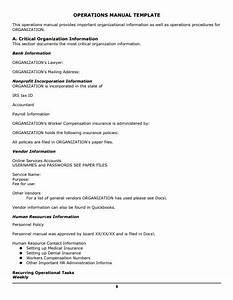 Operations Manual Templates