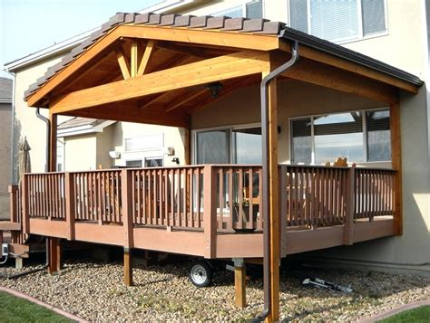 Roof Over Deck Ideas Attach From House Build Pergola