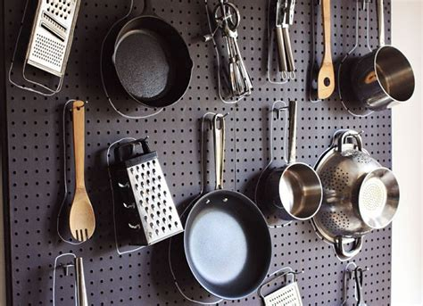 pegboard kitchen ideas easy diy home improvement projects for a creative space