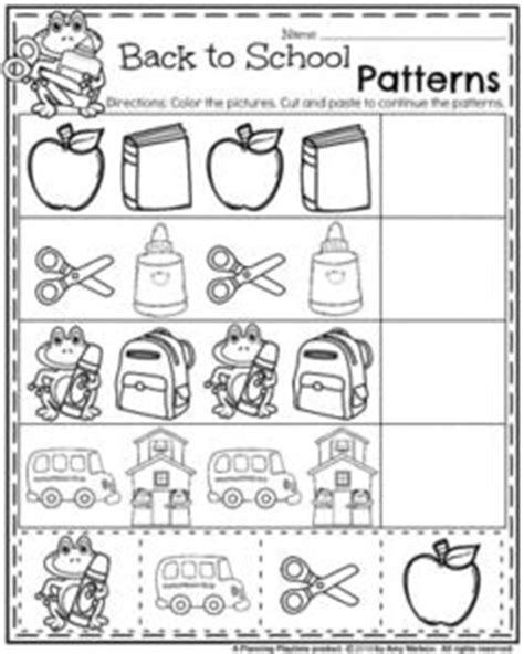 cut and paste back to school worksheets back to school preschool worksheets planning playtime