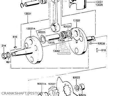 Fram G7 Fuel Filter by Kawasaki Kh100g7 1986 Usa Parts List Partsmanual Partsfiche