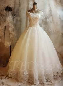 wedding gown dresses gown the shoulder lace church sequins wedding dress tbdress