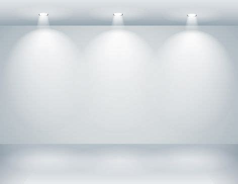 gallery interior with empty wall and lights eps 10