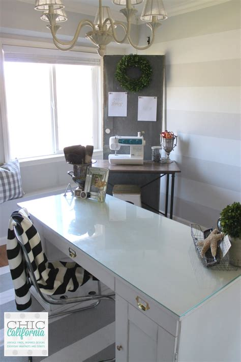 Home Officecraft Room Makeover Reveal  Chic California