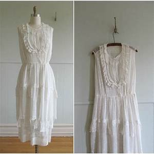 1900s white cotton lace vintage wedding dress by With cotton wedding dress