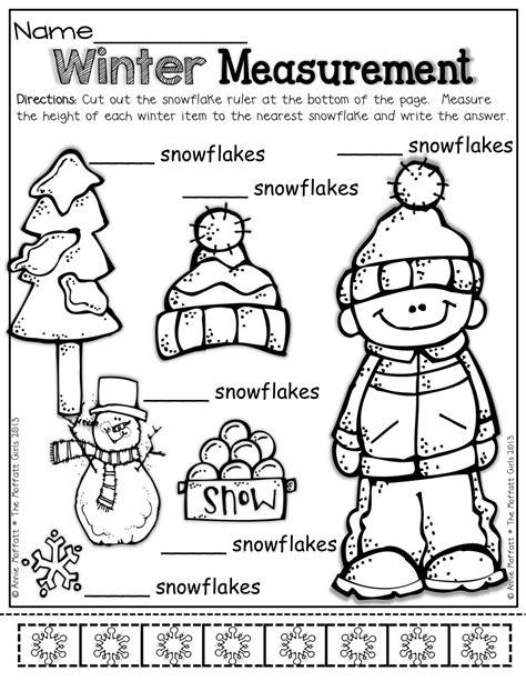 winter math and literacy packet no prep kindergarten 152 | 69b001a9ce7bc84f401662fb4c94c8f5