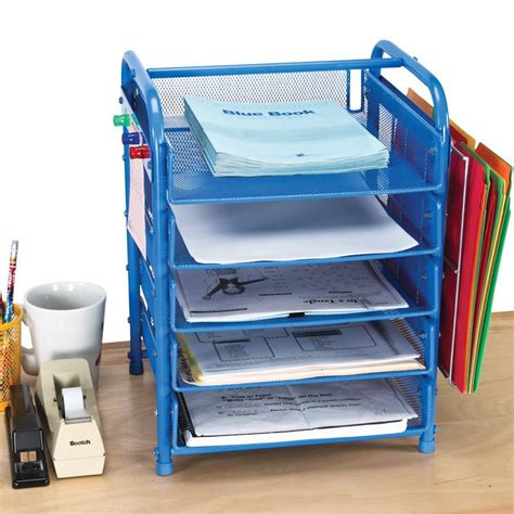 student desk organizer tray really good desktop classroom papers organizer with two