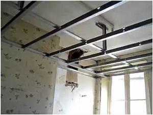 Pose Rail Placo Plafond : poser faux plafond placo l gamment pose placo plafond ~ Dailycaller-alerts.com Idées de Décoration