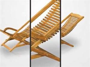 Transat En Bois : transat a bascule en bois exotique teck 125 cm tek import youtube ~ Teatrodelosmanantiales.com Idées de Décoration