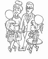 Coloring Parents Pages Grandparents Visiting Gran Colouring Obeying Parent Obey Children Printable Template Celebration Sketch sketch template