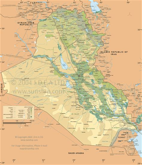 map  iraq  middle east information