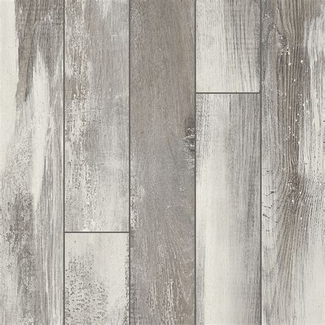 laminate flooring gray shop pergo portfolio 5 23 in w x 3 93 ft l iceland oak grey embossed wood plank laminate