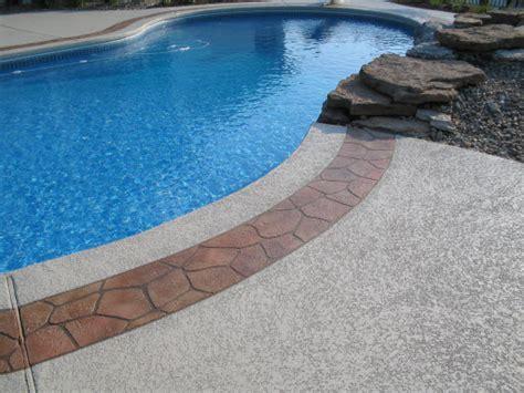 resurfacing pool cool deck pool deck ideas st louis mo decorative concrete resurfacing