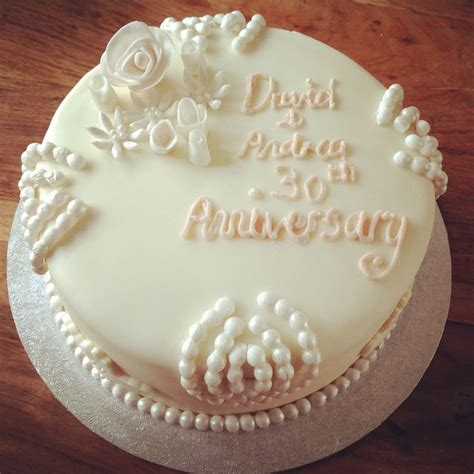 30th Wedding Anniversary Theme 1000 Ideas About Anniversary Cakes On