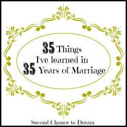35 year wedding anniversary 35 things i 39 ve learned in 35 years of marriage second chance to