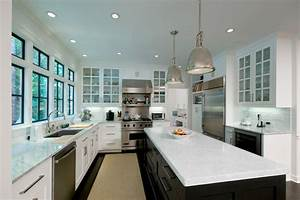 industrial-hanging-lights-Kitchen-Contemporary-with-black