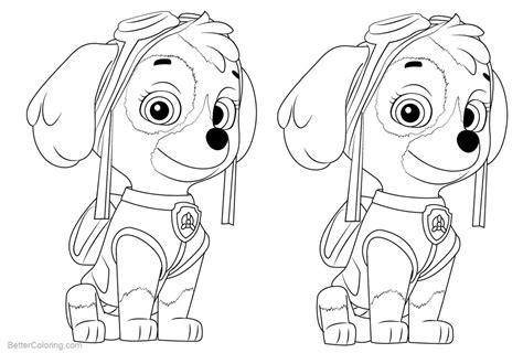 Skye from PAW Patrol Coloring Pages Free Printable