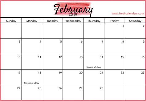 february calendar weather calendar