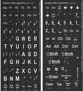 we sell large print keyboard labels stickers and overlays With logitech keyboard letter stickers