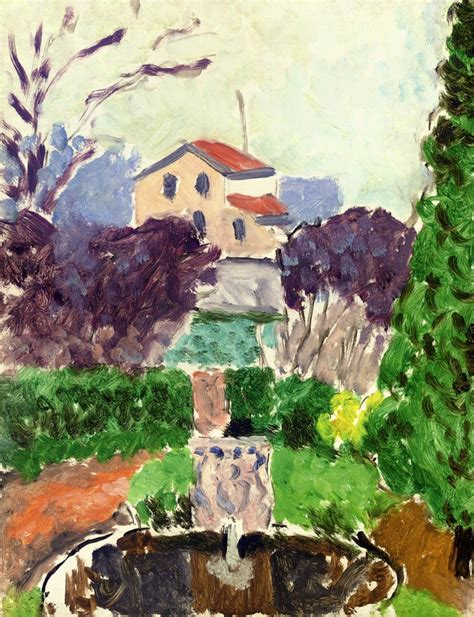the artist s garden at issy les moulineaux henri matisse