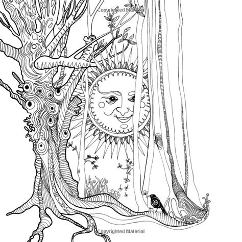 tangle wood  captivating colouring book  hidden