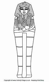 Sarcophagus Colouring Egyptian Coloring Printables Pdf Coffin Tomb Egypt Printable Mummy Ancient Outline Craft Activityvillage Tutankhamun Crafts Tombs Children Colour sketch template